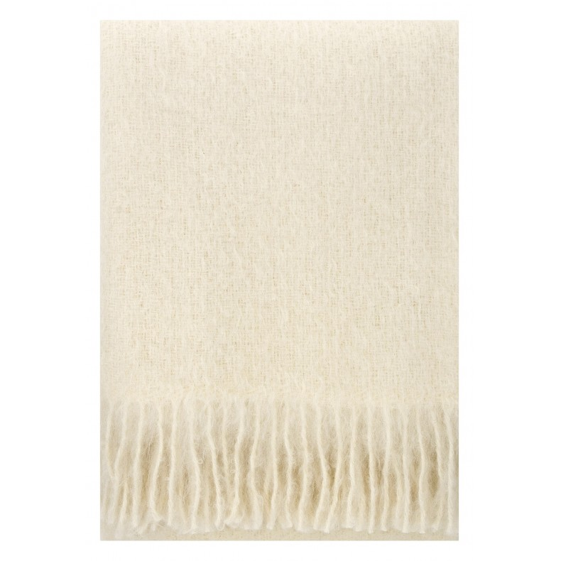 Plaid mohair blanc