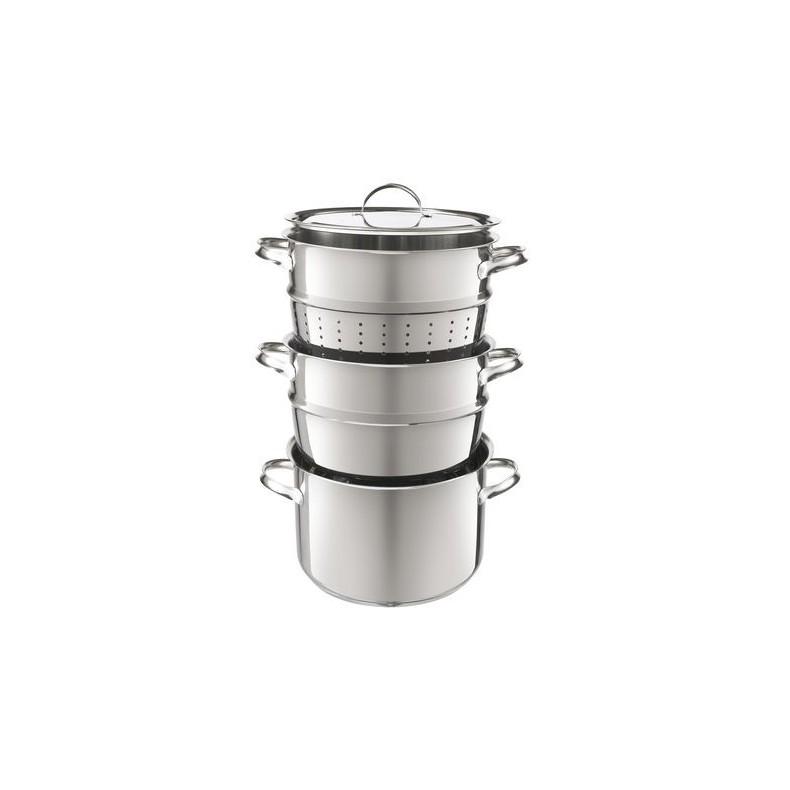 Marie, multi set de cuisson: casserole, cuisson vapeur et bain-marie de 3 litres