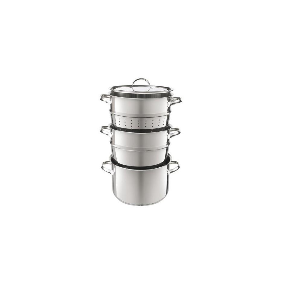 Marie multi set de cuisson casserole cuisson vapeur et for Cuisson foie gras bain marie casserole