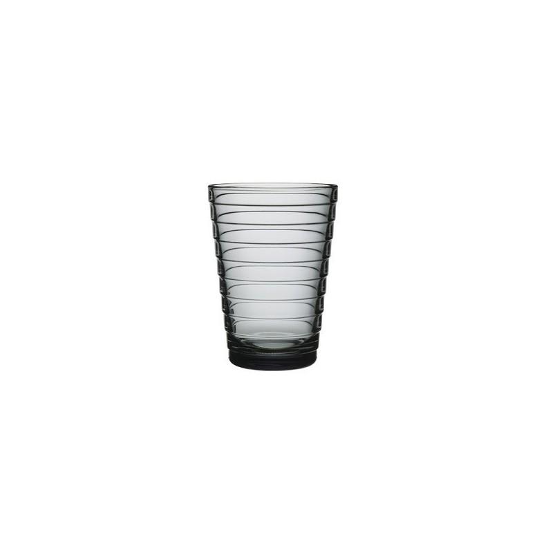 Verres Aino Aalto, 33 cl, gris, set de 2 verres