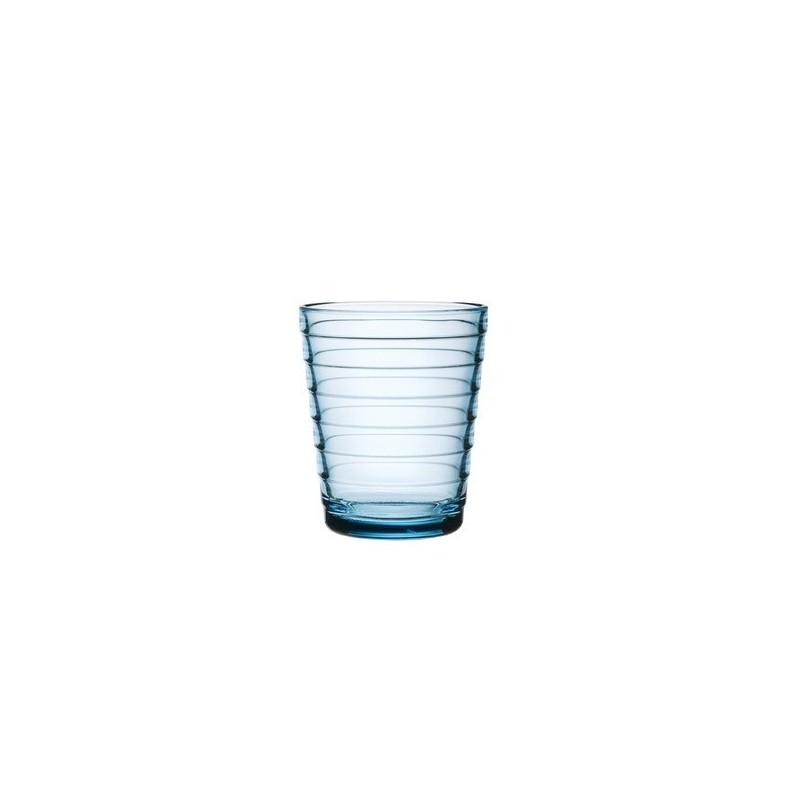Verres Aino Aalto 22 cl, bleu ciel, set de 2 verres