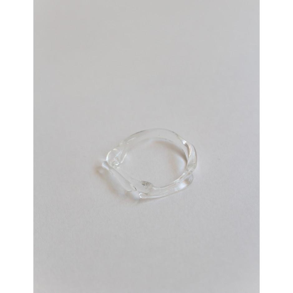 Kati Tola | Bague en verre clair 2