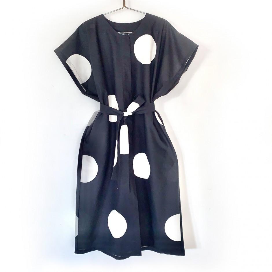Robe Elégance en noir et blanc