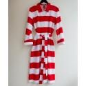 White and red Jokiraita dress, Vuokko