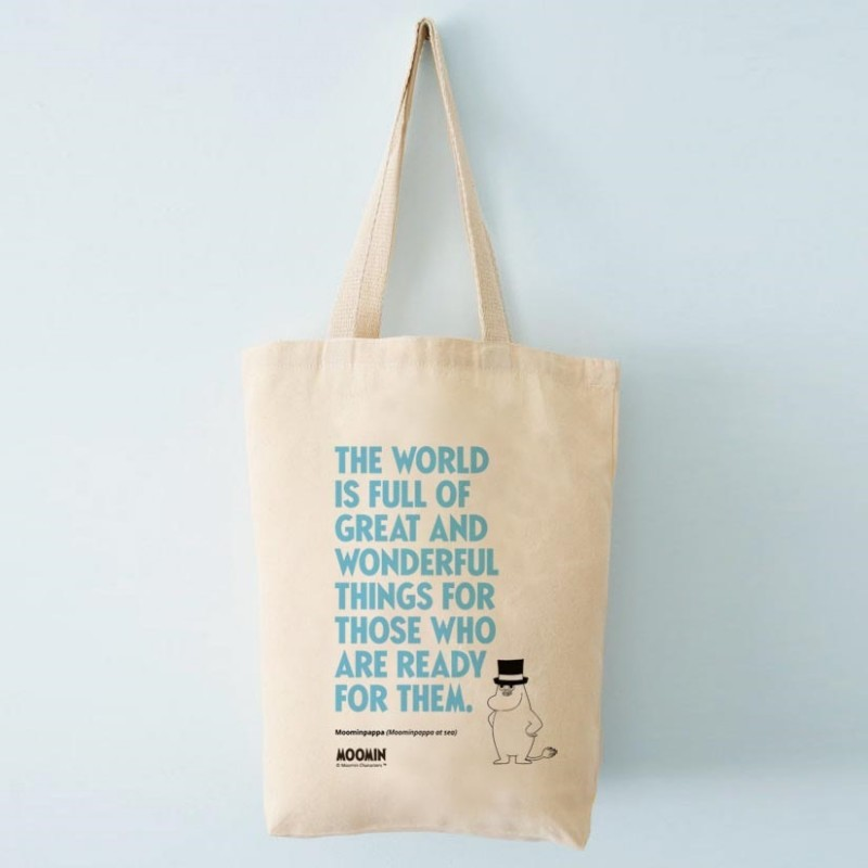 Tote bag Moomin, organic cotton, fair trade high quality bag