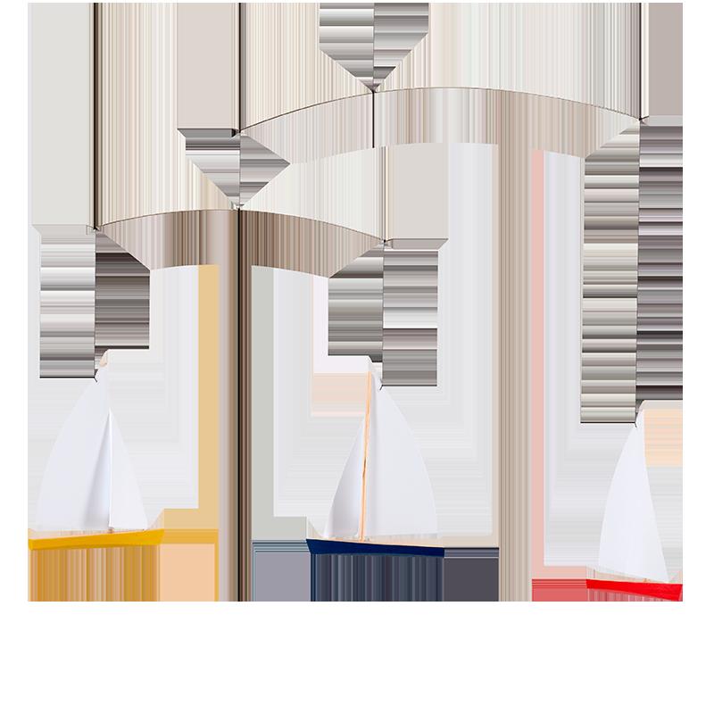 Mobile trois bateaux, Flensted