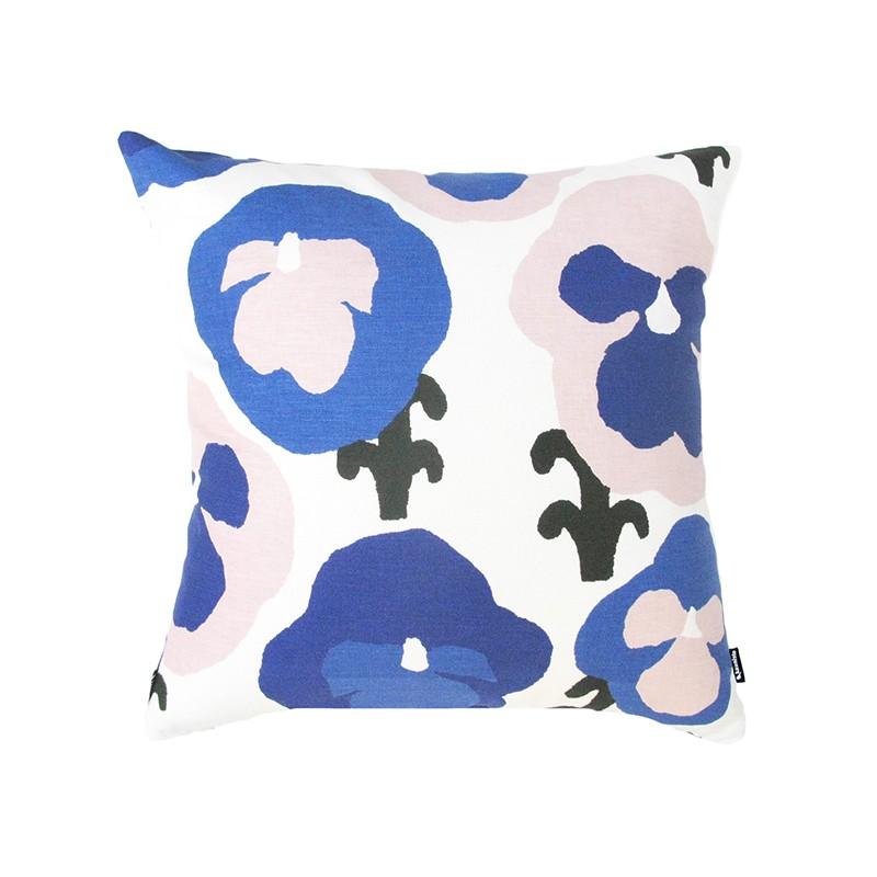 Blue Orvokki cushion cover, Kauniste