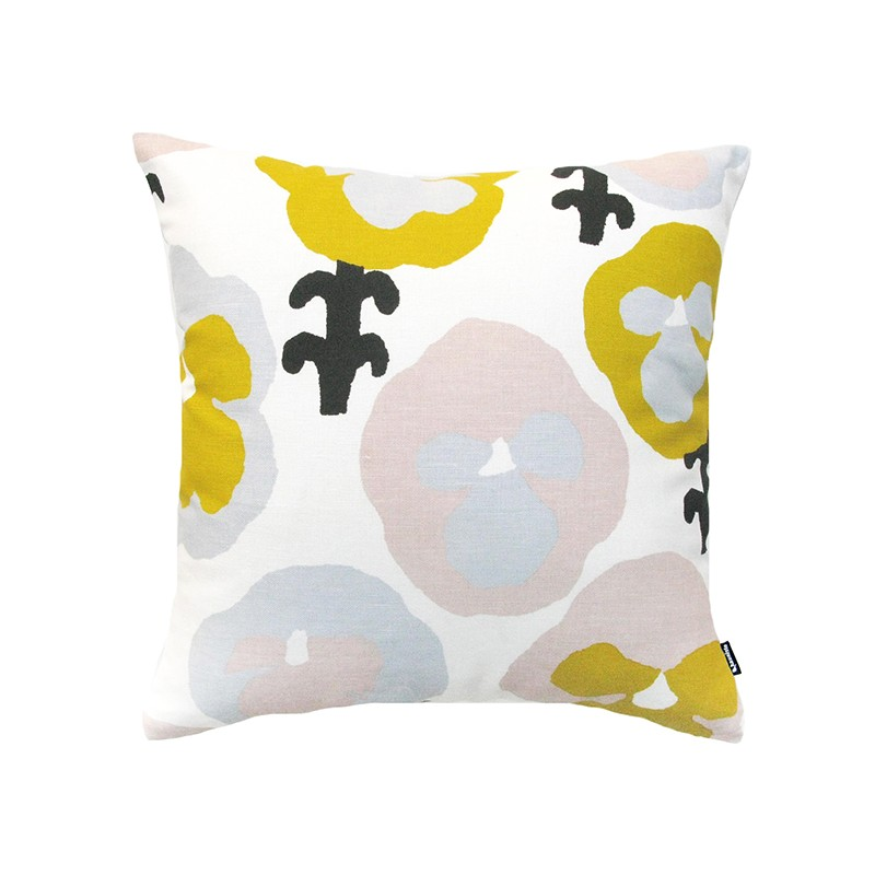 Orvokki yellow cushion cover, Kauniste
