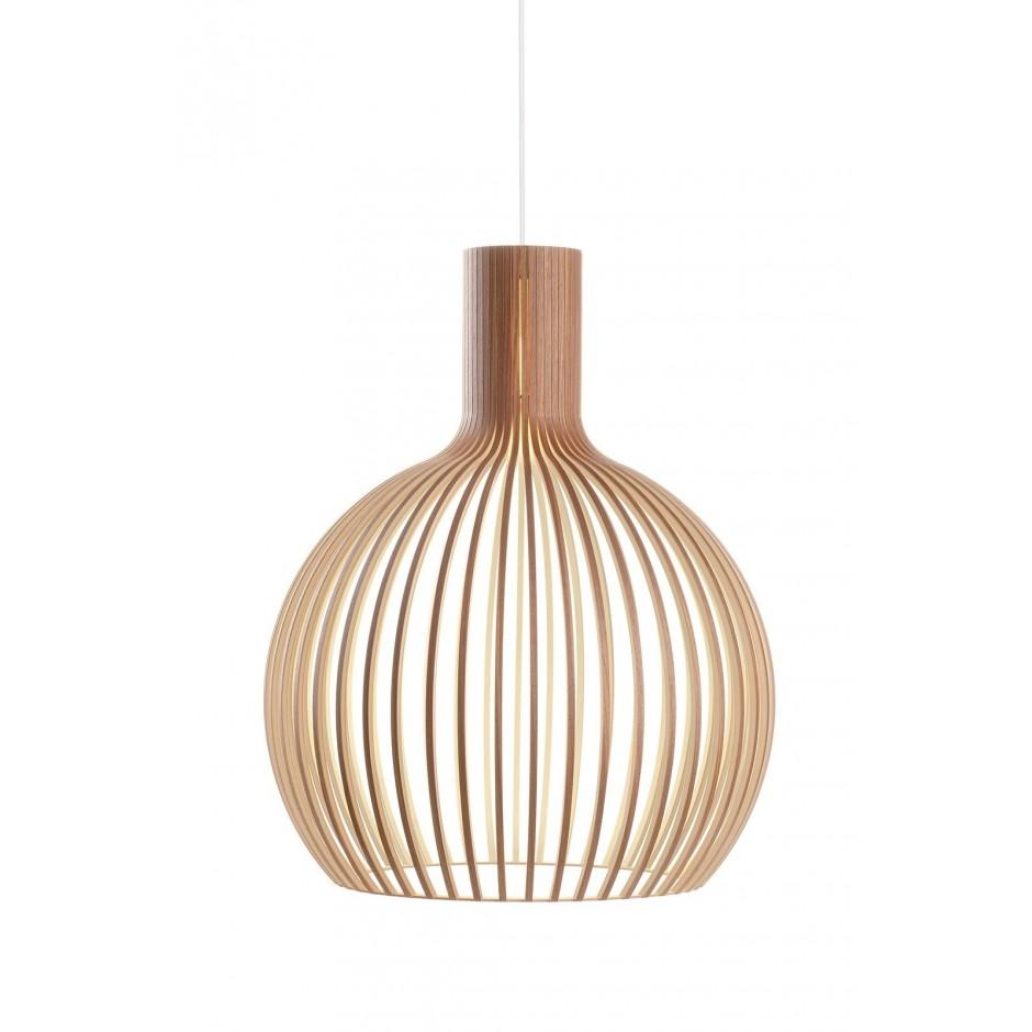 Pendant Octo lamp, Secto Design, colors natural, white, black, walnut