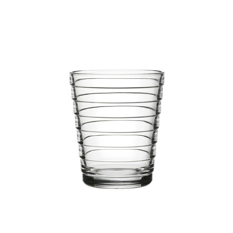 Aino Aalto tumbler 22 cl, clear, set of 2 pieces, Iittala
