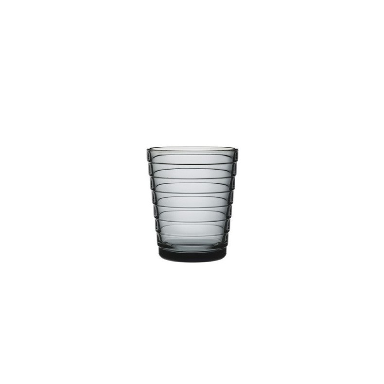 Aino Aalto tumbler 22 cl, grey, by 2 pieces
