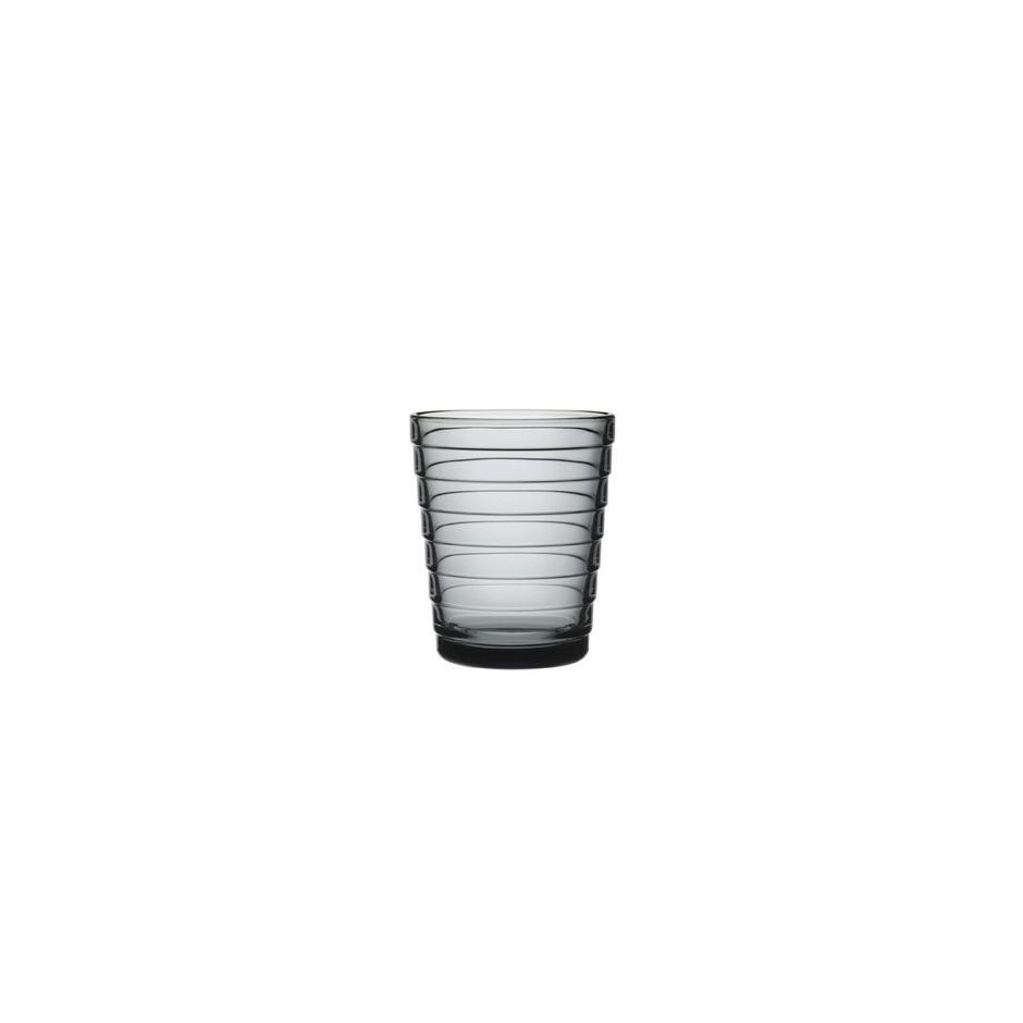 Verres Aino Aalto 22 cl, gris, set de 2 verres