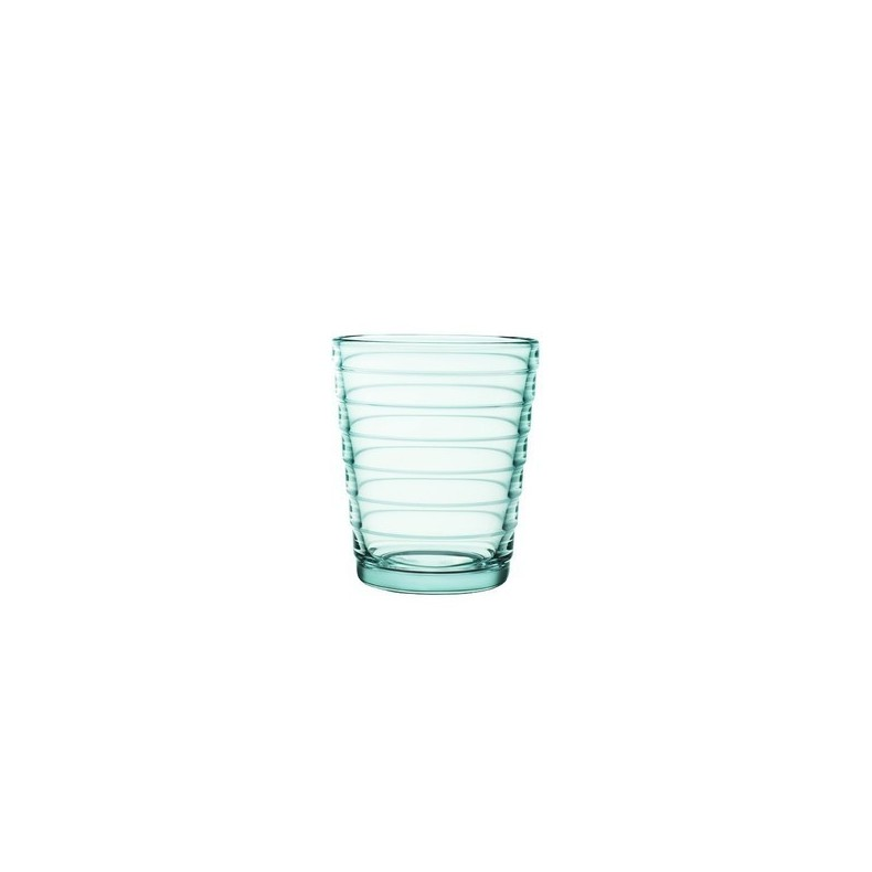 Aino Aalto tumbler 22 cl, water green, by 2 pieces