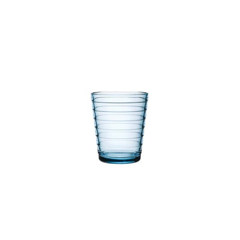Aino Aalto tumbler 22 cl, sky blue, by 2 pieces