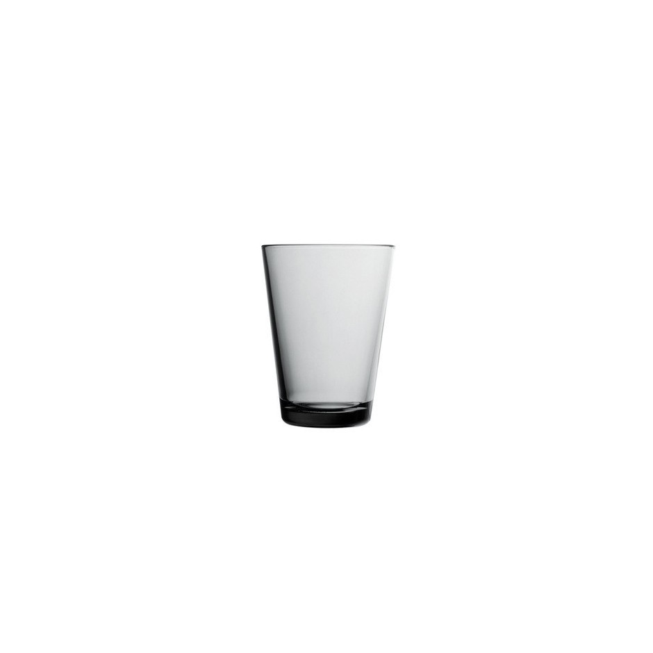 Kartio, verres 40 cl, gris, set de 2 verres