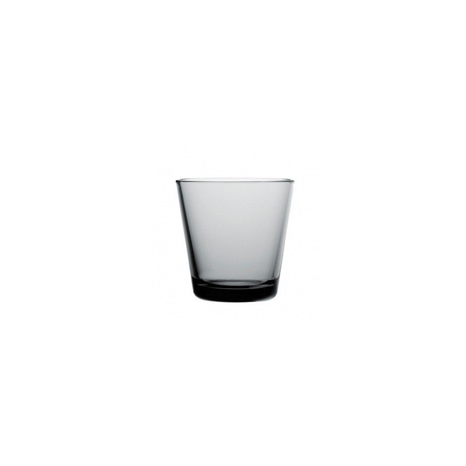 Kartio glasses 21 cl, grey, set of 2 glasses