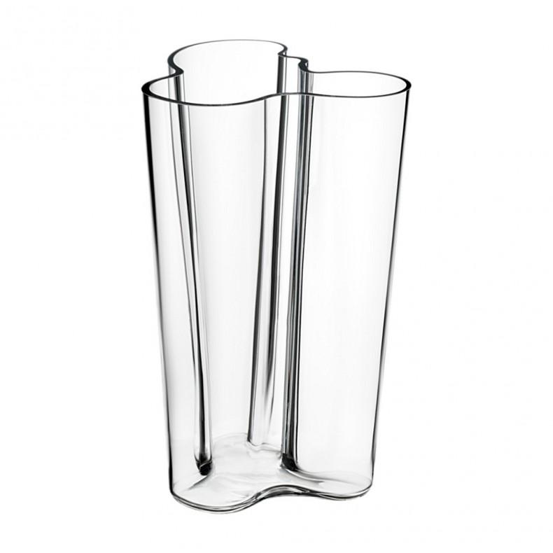 Vase Aalto Finlandia 251 mm, clair, Iittala