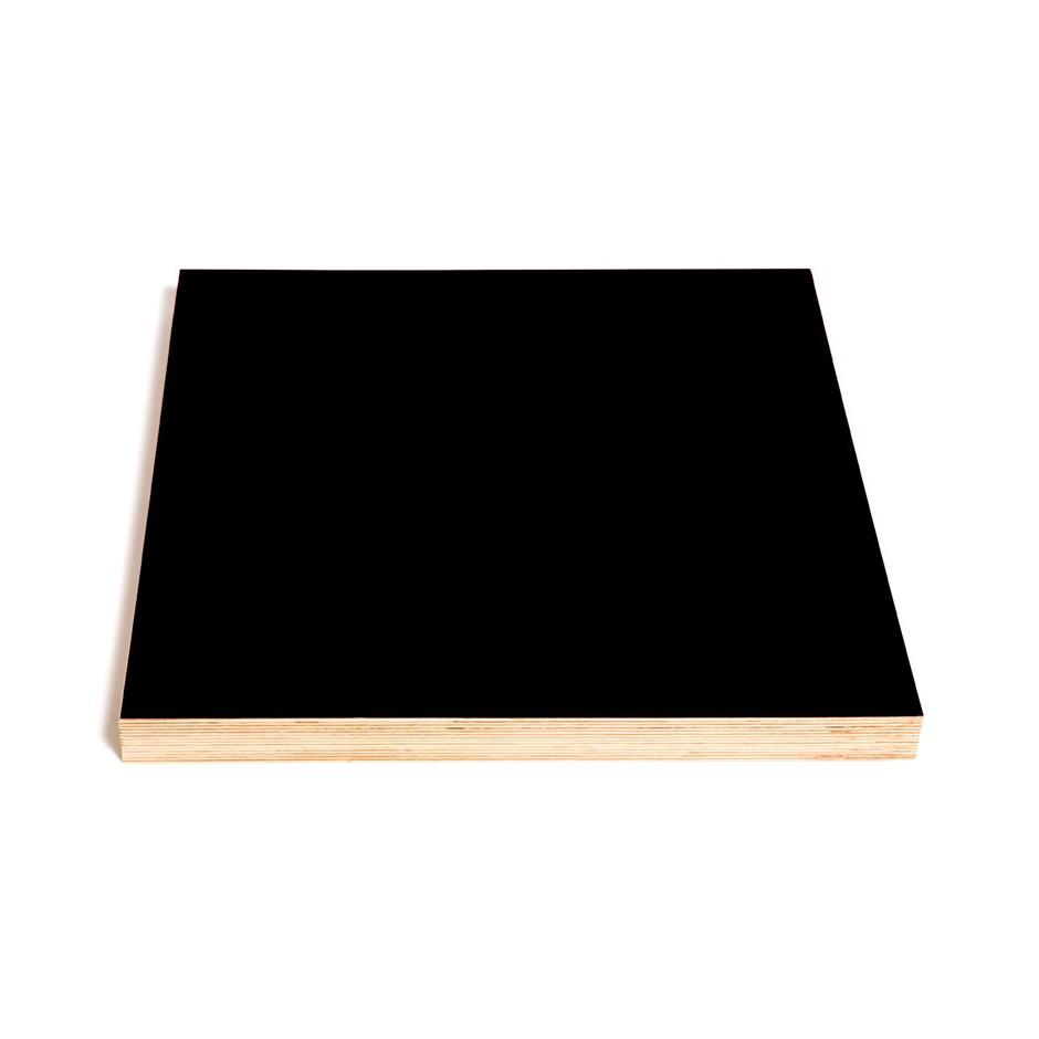Tableau noir magnétique carré, 500 x 500 x 40 mm
